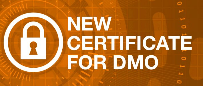 DMO Software: Renewal of the public certificate of Sepblac